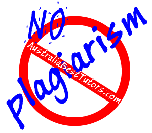 No Plagiarism at AustraliaBestTutors.com