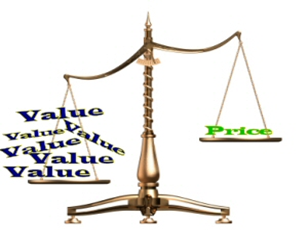 Value Greater than Price